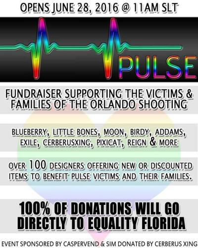 All proceeds will go to http://www.gofundme.com/PulseVictimsFund